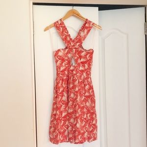 SEE BY CHLOE silk palm print dress
